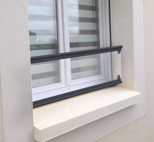 railing with bars / outdoor / for windows