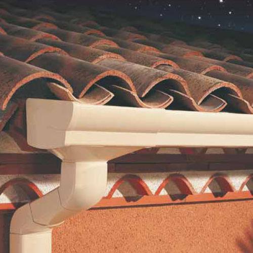 Semicircular roof gutter / PVC ELITE Nicoll