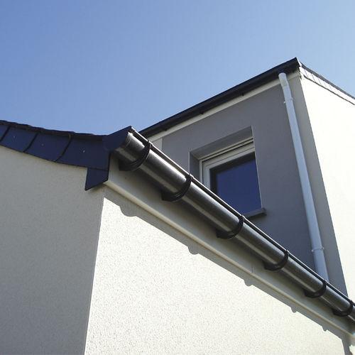 semicircular roof gutter / PVC