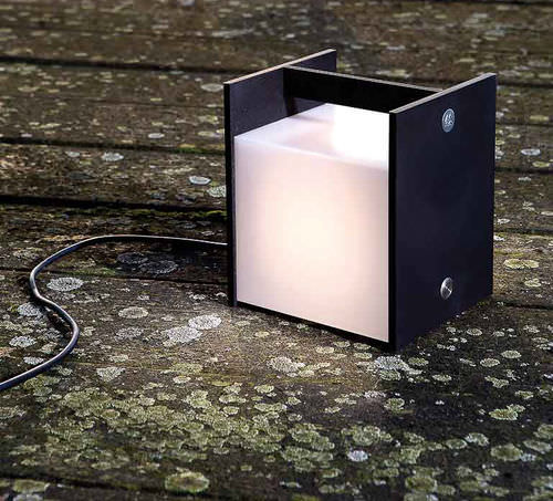 portable lamp / contemporary / metal / dimmable