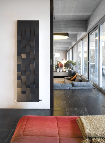 hot water radiator / electric / stone / contemporary
