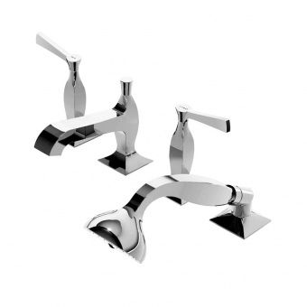 4 hole bath-tub double handle mixer tap BELLAGIO - ZB2441 ZUCCHETTI RUBINETTERIA
