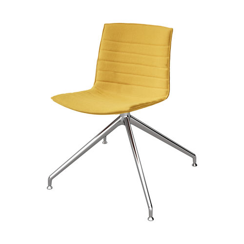 Contemporary office chair / central base / fabric / leather CATIFA UP Arper