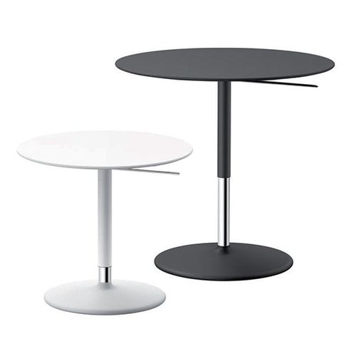 contemporary side table / steel / MDF / round