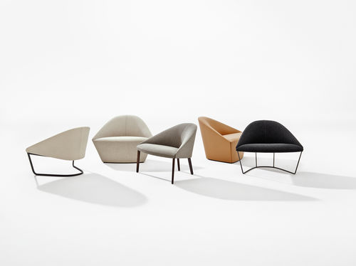 Contemporary armchair / fabric / leather / with washable removable cover COLINA M Arper