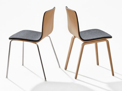 Contemporary chair / with washable removable cover / upholstered / fabric AAVA by Antti Kotilainen Arper