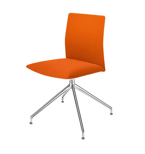 contemporary office chair / with armrests / upholstered / swivel