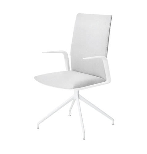contemporary office chair / swivel / upholstered / with armrests