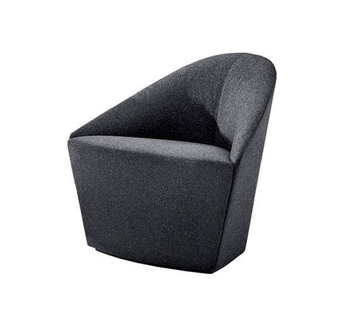 Contemporary armchair / fabric / leather / with washable removable cover COLINA S Arper