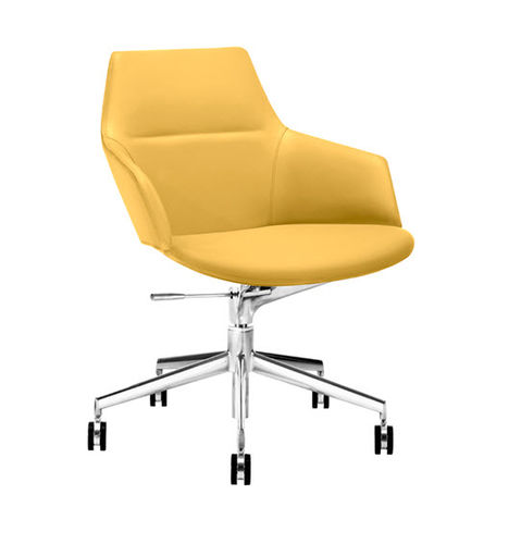Contemporary office armchair / fabric / leather / synthetic leather ASTON  Arper