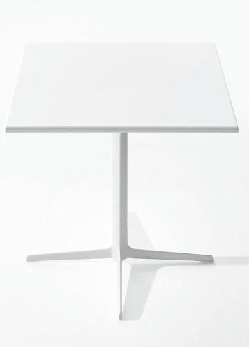 contemporary coffee table / MDF / round / square