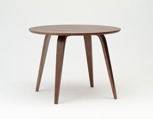 Contemporary Dining Table / Walnut / Molded Plywood / Round