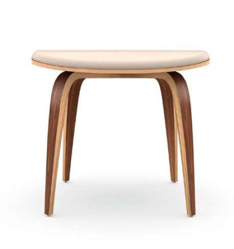 contemporary footrest / walnut