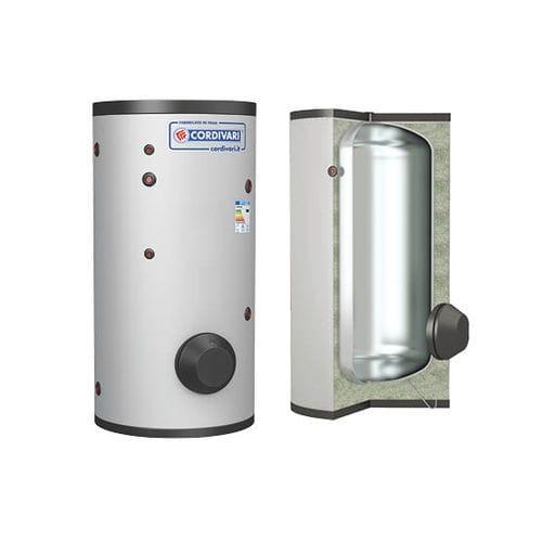 Solar hot water tank / free-standing / vertical / residential VASO INERZIALE CORDIVARI