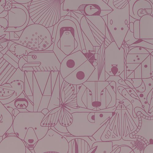 upholstery fabric / animal motif / polyurethane / commercial