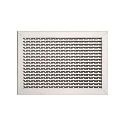 metal ventilation grill / rectangular / square