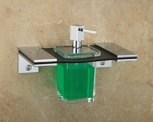 wall-mounted soap dispenser / metal / manual