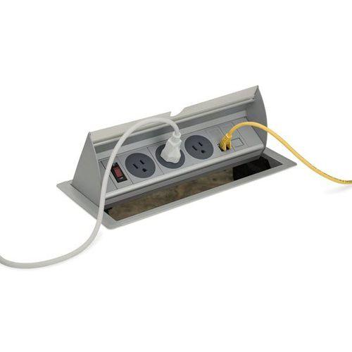 data socket / power / multi-person / recessed