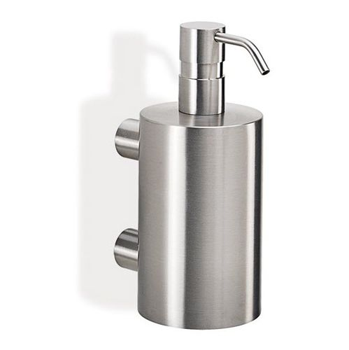 wall-mounted soap dispenser / stainless steel / manual