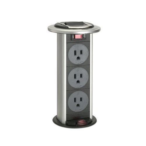 data socket / power / recessed / metal