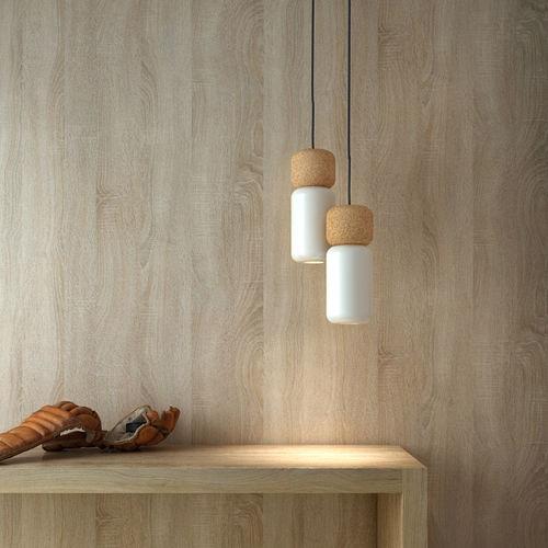 pendant lamp / contemporary / aluminum / cork
