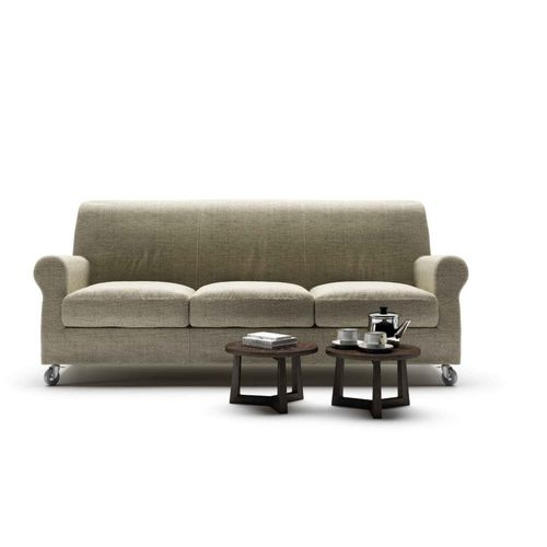 traditional sofa / fabric / leather / contract