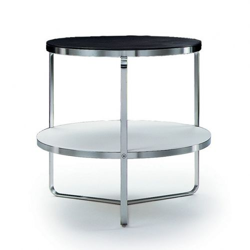 contemporary side table / wooden / metal / rectangular