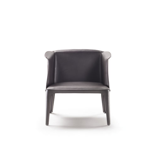 contemporary armchair / leather / multi-color / by Carlo Colombo