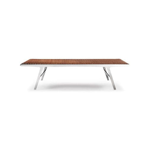 contemporary upholstered bench / leather / metal / for public buildings