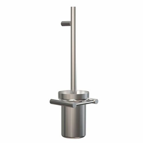 stainless steel toilet brush / wall-mounted