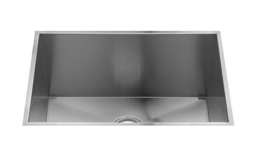 single-bowl kitchen sink / stainless steel / commercial