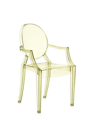 Louis XV style chair / with armrests / stackable / medallion LOUIS GHOST Kartell