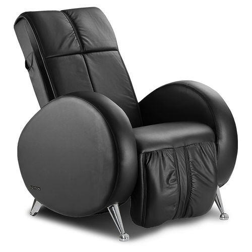 leather massage armchair / with footrest