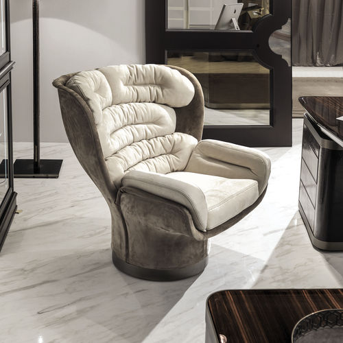 original design office armchair / fabric / leather / fiberglass
