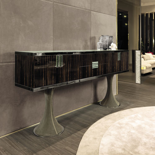 sideboard with long legs / contemporary / lacquered wood / walnut