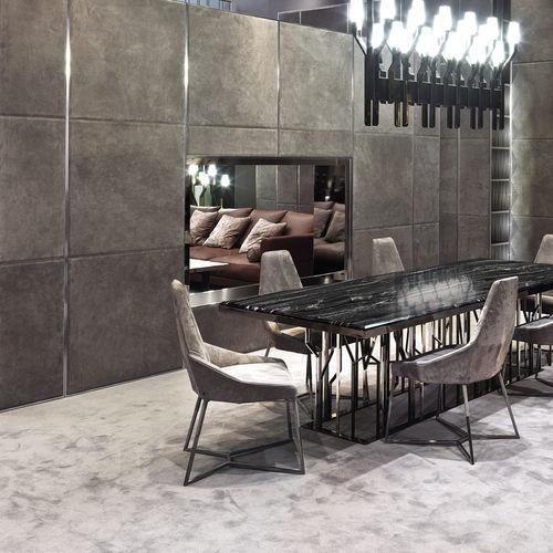 wood decorative panel / leather / wall-mounted / modular