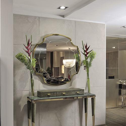 wall-mounted mirror / contemporary / metal / golden