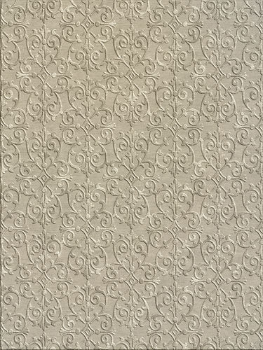 contemporary rug / patterned / wool / silk