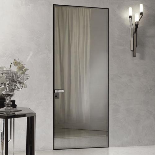 indoor door / swing / glass / aluminum