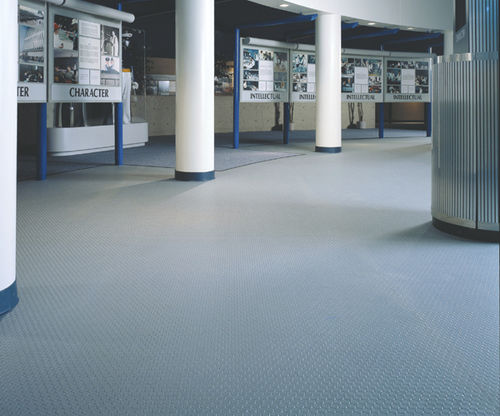 PVC floor covering / colored / concrete look / non-slip LONCOIN II FLECKS LONSEAL FLOORING