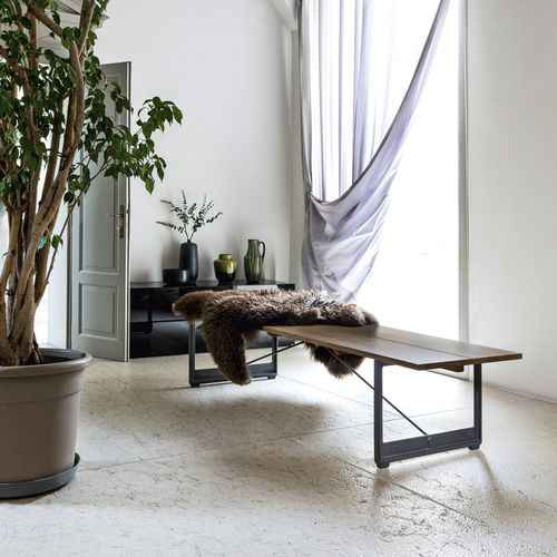 contemporary bench / oak / cast iron / by Konstantin Grcic