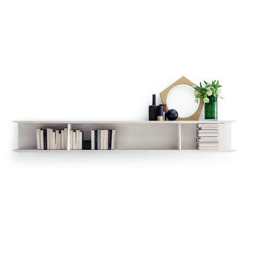 Wall-mounted bookcase / contemporary / elm / by Gio Ponti - D ...
