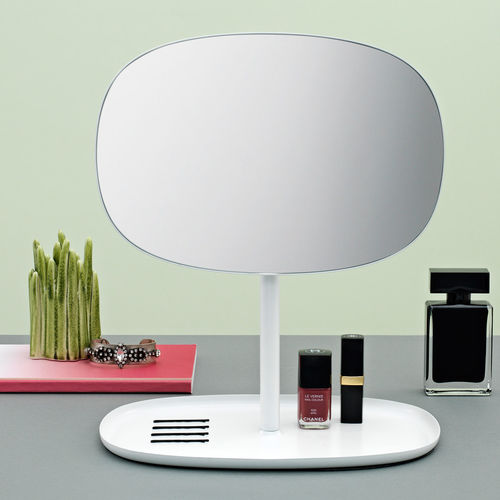 table mirror / tilting / contemporary / steel