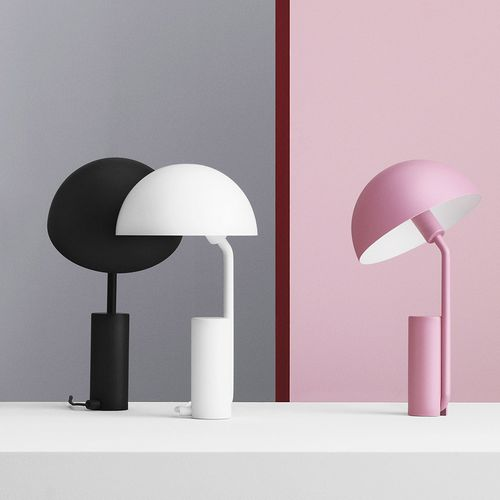 table lamp / contemporary / steel / white