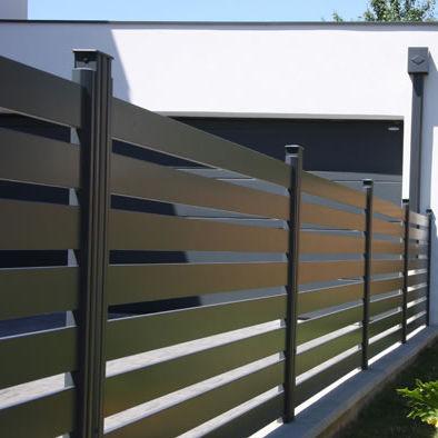 garden fence / louvered / aluminum / smooth