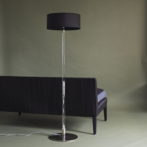 Floor-standing lamp / contemporary / glass / bronze AXIS MUNDI OCHRE