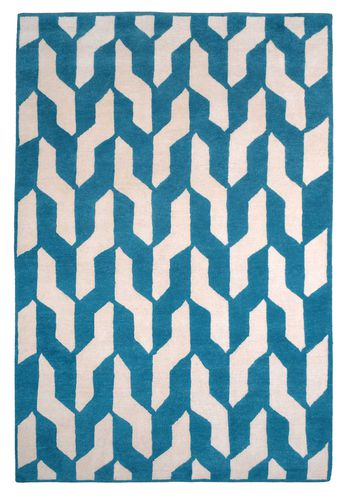 Contemporary rug / patterned / wool / Tibetan wool CABLE BLUE The Rug Company