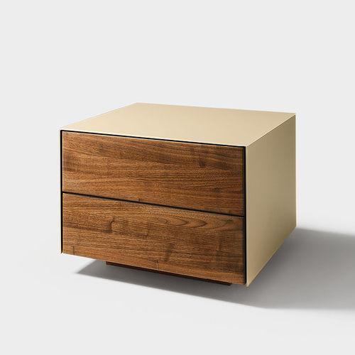 contemporary bedside table / oak / walnut / beech