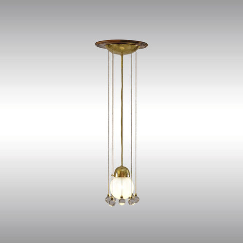 pendant lamp / traditional / glass / brass