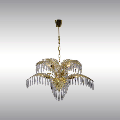 traditional chandelier / crystal / brass / incandescent